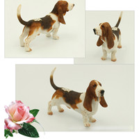 basset hound - Basset Hound Simulation Dog Figurine Crafts Ornament Modern Wedding Gift Decoration Figurine Crafts with Resin for Home Decoration