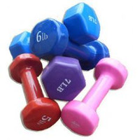 Wholesale Fantastic Fitness Colorful Vinyl Dipped Cast Iron Dumbbell