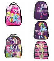 bag pony sale - Hot Sale Girls My little pony bag Chindren Cartoon School bags Baby my little pony backpacks Kids Horse school backpack