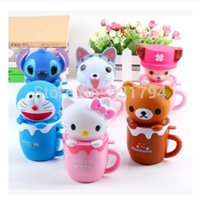 Wholesale Students battery electric water cup in cartoon animal portable hand held mini water spray fan