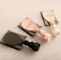 Wholesale New arrive lovely francfranc rabbit plastic rice spoons peter rabbit stereo scoop rice black white pink three colors sale ATOP1332
