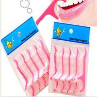 Wholesale New Hot Teeth Clean Care Floss Thread Dental Flossers Plastic Brush Tooth Picks