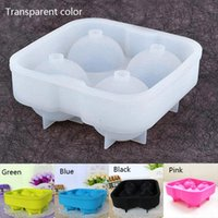 Wholesale Round Bar Silicon Whiskey Ice Cube Ball Maker Mold Sphere Mould Party Tray E00138 FAH