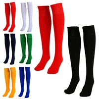 Wholesale New Arrivals Men Women Adults Sports Football Socks Plain Color Knee High Cotton One Size PX252