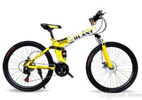 Wholesale DLANT Land Rover inch Folding Bicycles Gold Spoked Wheel Speed Mountain Bike Suspension Unisex Bicycle quot