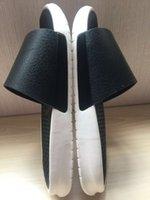 air max sandals - 2016 Lab Benassi Slide Lux Men s Air Lebron Slide Sandals Scuffs High Quality Air Max Men Genuine Leather Paste Buckle
