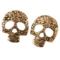 mask earrings - Vintage High quality Fashion Personality Punk Jewelry Earrings charm Mask Skull Stud Earrings For Women Accessory brincos