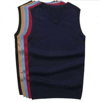 Wholesale Cashmere Jerseys Hombre - 2016 New Small Horse Mens sweaters Vest V-Neck jersey hombre jumper ralphmen pullover cashmere long sleeve Brand Clothing