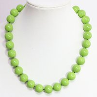 baking glass paint - Fashion green baking paint glass high grade round beads mm hot sale necklace factory price fine jewelry inch B1468