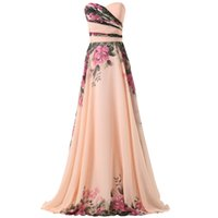 Wholesale Princess Style Real Picture Beautiful Elegant Mother Elegant Chiffon Printing Floral Bridesmaid Cheap China Evening Party Dress