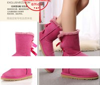 australia charms - Real Australia bow knot Women Classic Snow Boots Womens boots Snow Winter boots leather shoes boot US SIZE