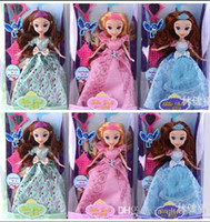baby first doll - Princess Sofia Dolls inch Sofia the First Toy Doll Action Figures Vinyl Sofia Doll Cartoon Toy Kids Gift Doll Toy Vinyl Doll LJJE154 pc