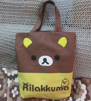 anime cosplay shop - New big size school book bag shouldeNew Anime Rilakkuma Bear travel Shoulder Bag coffee shopping bag Manga Cosplay Tasche x43cm X
