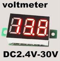 Оптово-Instruments 0,28-дюймовый светодиодный дисплей Мини Цифровой вольтметр DC2.4V-30V Панель Вольтметр напряжения Электрический тестер