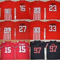 Wholesale Men s Ohio State Buckeyes Jersey Lebron James Eddie George Pete Johnson Archie Griffin Joey Bosa Stitched College Jerseys
