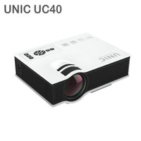 Wholesale Original UNIC UC40 Home Cinema HDMI USB LCD HD LED Mini Projector