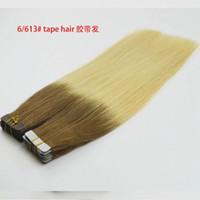 Wholesale European Hair seamless tape extension s x cm g inch silk straight bags