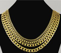 Wholesale 8mm Mens Boys Chain Flat Cut Curb Cuban Necklace Gold Filled Necklace Personalize k Jewelry Gift GN13