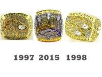 Wholesale 1997 Denver Broncos SUPER BOWL RING FOOTBALL REPLIA RING Championship RING together set