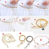 belly chains jewelry - 2017 Newest Belly Chains Sexy Belly Belt Waist Chain Wedding Dress Sashes Belts Gold Silver Bridal Jewelry