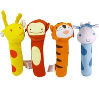 baby grabs - 100 cotton kids toys kawaii cartoon grab BIBI stick baby toys soft material cute animal plush toys lovely modeling kids toys