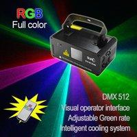 Wholesale SUNY Remote DMX mW RGB Laser Stage Lighting Scanner DJ Dance Xmas Show Blue Light LED Effect Projector Fantastic Disco item