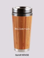 Wholesale bamboo stainless steel car cup