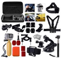 belt cup holder - 4k sport camera Accessories Set pro Kit Include Head Strap Chest Belt Harness Yellow Handle Grip Wrist Strap Suction Cup Car Holder etc
