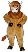 baby buffalo - Baby Buffalo Mascot Costume Big Blue Eyes Brown little baffalo anime cosply costume carnival costumes fancy dress