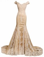 Wholesale Elegant New Appliques Crystal Vestido De Festa Tulle Mermaid Evening Dresses V Neck Celebrity Party Dresses Vestido Longo