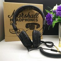 Cheap Genuine Marshall Major headphones With Mic Deep Bass DJ Hi-Fi Headphone HiFi Headset Professional DJ Monitor Headphone