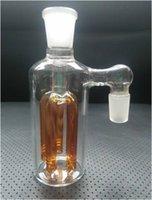 Mini Bubbler Glass Ash Catcher Percolateur en ligne Water Pipe Oil Rig Bong La meilleure qualité