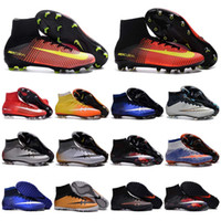 baseball turf - Kids Soccer Cleats CR7 Cristiano Ronaldo Mens Mercurial Superfly FG TF Football Boots Women High Top Soccer Sports Shoes Youth Turf Pink