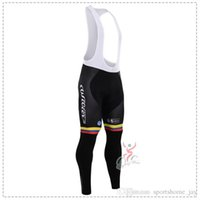 Wholesale Autumn Cycling Trousers Colombia TEAM Long Cycling Pants Winter Thermal Fleece Ciclismo cycling Mountian MTB Bike Gel Pad Long Pants