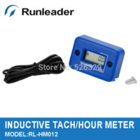 Wholesale LCD Inductive Engine Hour Meter Tachometer for Tractor Outboard Motor Crane Gasoline Engine M54354 tachometer motorcycle