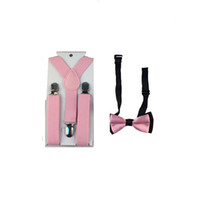 Wholesale Hot Baby Boys Children Toddlers Kid Suspenders Braces Bowtie Set Wedding Accessories GHHtr0010