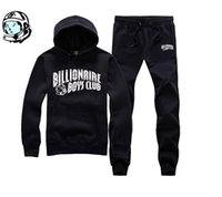 großhandel jogging suit-2016 neue Herbst-Hip-Hop-Trainingsanzug Billionaire Boys Club Männer Jogginganzug Winter Ankunft warme Kapuzen-Qualität BBC Top + pants