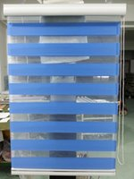 Wholesale Custom Made Polyester Translucent Roller Zebra Blinds in Dark Blue Window Curtains for Living Room GY01 Colors are Available