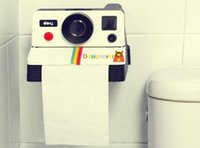 Wholesale Creative Retro Polaroid Camera Shape Inspired Tissue Boxes Toilet Roll Paper Holder Box Bathroom Accessories