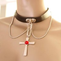 akashiya moka - Women Fashion Necklaces Cosplay Rosario Vampire RosaVam Moka Akashiya Cross Necklace Jewelry
