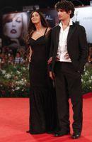 Wholesale Sexy Black off shoulder celebrity red carpet dresses Monica Bellucci Venice Film Festival sweep train