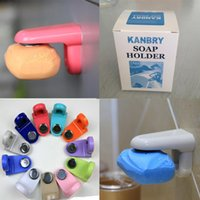 Wholesale Flexible Home Bathroom Magnetic Soap Holder Container Dispenser Wall Attachment Adhesion Soap Dishes Plate Soap Holder Multi Color
