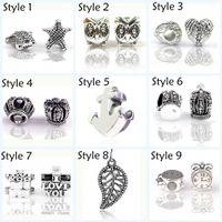 Wholesale HYWo Multi type selection Sterling Silver Beads Watch Love Crown for women gift diy Jewelry Bracelet Pendant Bijoux Femme