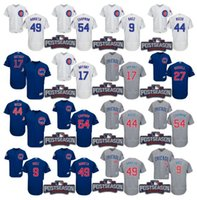 Wholesale 2016 Postseason Patch Men s Chicago Cubs Chapman Javier Baez Kris Bryant Rizzo Arrieta Russell baseball jerseys Stitched S XL