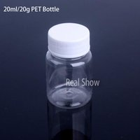 Wholesale 50pcs Transparent polyester bottle PET ml plastic bottle vial sub bottle sample bottle seal