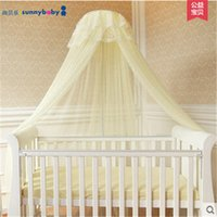Wholesale Zanzariere lettino dosel mosquitera Elegant Round Dome Bed Canopy Bug Insect Palace Mosquito Curtain Net Mesh Bedroom Dreamma