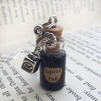 american ink - 12pcs Squid Ink Bottle Necklace Decoration inspired by Once Upon A Time