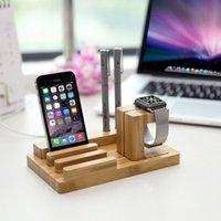 Wholesale 3 in Wooden Stand for Apple Watch Tablet Charging Dock for iPhone Smartphones Cradle Bracket Exquisite Design