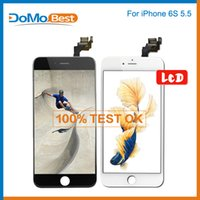 bar slider - OEM Quality Factory Price For iPhone s Plus LCD Screen Assembly No Dead Pixels Grade AAA DHL Black White