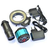 adjustable lens mount - HD MP VGA AV Industrial Microscope Camera X Zoom C mount Lens Video Recorder LED adjustable Light